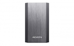 Išorinė baterija ADATA A10050 Power Bank 10050mAh, Type-A USB, titanium grey