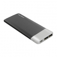 Išorinė baterija Power Bank Qoltec 10000mAh | Li-poly | Black | 2 x USB 2.1A