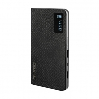 Išorinė baterija Power Bank Qoltec 10000mAh | Li-poly | Black