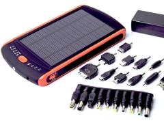Išorinė baterija Power Bank su saulės baterija PowerNeed 2.5W - neš./planš. kompiuteris, telefona