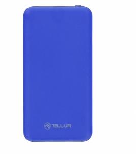 Išorinė baterija Tellur Power Bank Slim, 10000mAh, 2xUSB + MicroUSB, blue Išorinės baterijos (Power bank)