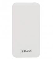 Išorinė baterija Tellur Power Bank Slim, 10000mAh, 2xUSB + MicroUSB, white Išorinės baterijos (Power bank)
