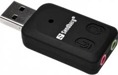 Išorinė garso plokštė Sandberg USB Sound Link Skaņas kartes