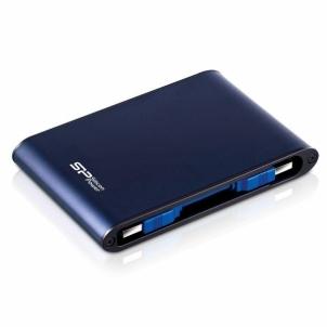 Išorinis diskas External HDD Silicon Power Armor A80 2.5 500GB USB 3.0, IPX7, waterproof, Blue