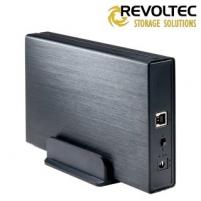 Išorinis HDD korpusas Revoltec 3,5 Alu-Line III EX307 SATA->USB3.0 Hdd kastes