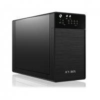 Išorinis kietasis diskas ICY BOX, IB-3620U3 External Storage Enclosure for 2x 3.5'' SATA HDDs with USB 3.0 and eSATA. JBOD, black
