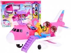 Išskleidžiamas lėktuvas su lėlėmis ir priedais