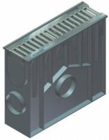 Įtekėjimo dėžė su nešvarumų indu, cinkuoto plieno juostinėmis grotelėmis SW 75/9 The collection of surface water