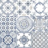 J95601 10,05x0,53 m tapetai, mėlynas raštuotas