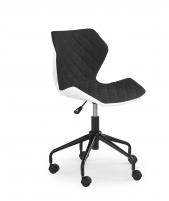 Jaunuolio kėdė MATRIX balta/juoda