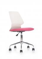 Jaunuolio kėdė SKATE balta/rožinė Jaunuolio kėdės