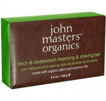 John Masters Organics Birch & Cedarwood Cleansing & Shaving Bar Cosmetic 128g Muilas