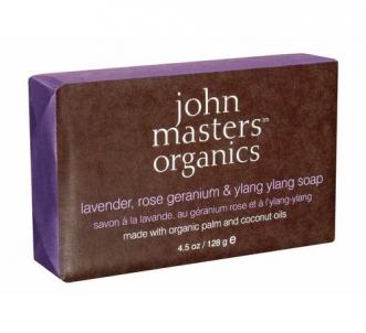 John Masters Organics Lavender Rose Geranium & Ylang Ylang Soap Cosmetic 128g Muilas