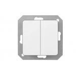 Jungiklis įleidžiamas, 2 klavišų, be rėmelio, baltas, Vilma ST150 P510-020-02 V