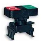 Jungiklis su dvigubu mygtuku, juodas, žalia/raudona, ON-OFF, HD15G3, ETI 04770028 Mygtukai