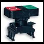 Jungiklis su dvigubu mygtuku, juodas, žalia/raudona, ON-OFF, HD15G3, ETI 04770028