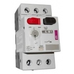 Jungiklis variklinis, 3P, 6,3-10A, mygtukinis, su šilumine rele, MS18, ETI 04600349