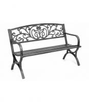 Juodo metalo sodo suoliukas Miscellaneous outdoor furniture