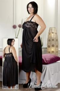Juodos suknelės bei kelnaičių su juostele rinkinys Xl erotica