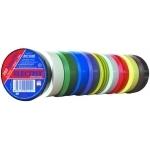 Juosta izoliacinė PVC, 20m x 19mm x 0,13mm, atspari drėgmei, nepalaikanti degimo, geltonai žalia, iki +80°C Elektriskās izolācijas