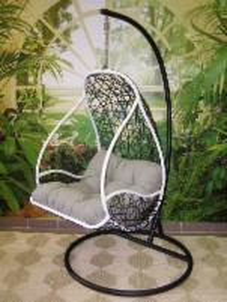 Kabanti kėdė juoda ETP-DL40 Lauko kėdės