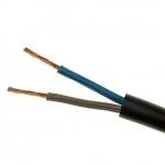 Kabelis 2x0,75mm2, varinis lankstus apvalus baltas (H05RR-F), guma Rubberized cables and wires