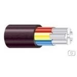 Kabelis AXMK 4x35mm2, aliumininis apvalus juodas (AXPK) Alumīnija strāvas kabeļi