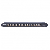 Kabelis EXTRALINK 12 Port Passive or 802.3af/at PoE Injector 1 GbE 18v~57v DC Rack 19