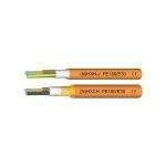 Kabelis nedegus, NHXH 3x10mm2, varinis monolitinis apvalus oranžinis