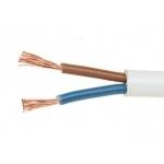 Kabelis OMY 2x1,5mm2, varinis lankstus apvalus baltas (BVV-LL) (M), 100m Vara instalācijas vadi