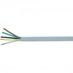 Kabelis OMY 5x0,75mm2, varinis lankstus apvalus baltas (H05VV-F), 100m Copper installation wires