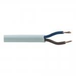 Kabelis OMYp 2x0,5mm2, varinis lankstus plokščias baltas (H03VVH2-F) (M), 100m