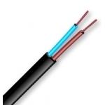 Kabelis OMYp 2x1mm2, varinis lankstus plokščias juodas (BVV-PLL), 100m