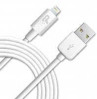 Kabelis Patriot Sync and Charge Lightning USB (sk. iPhone, iPad, iPod) baltas