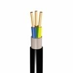 Kabelis požeminis, CYKY 3x10mm2, varinis monolitinis apvalus juodas (VVG) Copper wiring cables