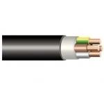 Kabelis požeminis, CYKY 4x1,5mm2, varinis monolitinis apvalus juodas (VVG) Vara vadu kabeļu