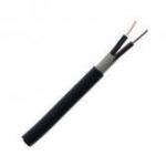 Kabelis požeminis, CYKYp 2x4mm2, varinis monolitinis plokščias juodas (VVG)