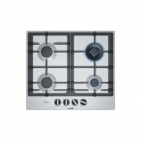 Kaitlentė Bosch Hob PCH6A5B90 Gas, Number of burners/cooking zones 4, Stainless steel, Įmontuojamos kaitlentės