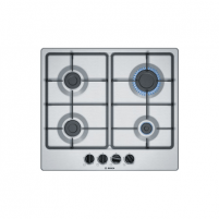 Kaitlentė Bosch Hob PGP6B5B60 Gas, Number of burners/cooking zones 4, Stainless steel,