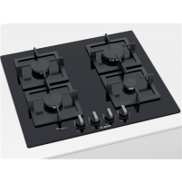 Cooktop Bosch Hob PPP6A6B20 Gas, Number of burners/cooking zones 4, Black,