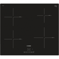 Kaitlentė Bosch Hob PUE611BB1E Induction, Number of burners/cooking zones 4, Black, Display, Timer