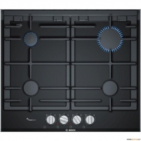 Kaitlentė Bosch PRP6A6D70 built-in gas hob, 4 zones, glass ceramic surface, black