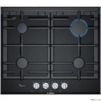 Kaitlentė Bosch PRP6A6D70 built-in gas hob, 4 zones, glass ceramic surface, black