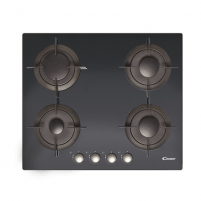 Cooktop Candy CVG 64 SGNX Gas on glass, Number of burners/cooking zones 4, Black,