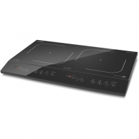 Kaitlentė Caso 02231 Double Induction hob, Number of burners/cooking zones 2, Black, Display, Timer Įmontuojamos kaitlentės