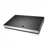 Kaitlentė Caso S-Line 3500 Domino Induction hob, 12 power levels, 12 temperature levels, Sensor touch display, Smart Control, Timer, 3500W, Black Įmontuojamos kaitlentės