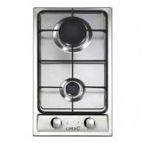 Cooktop CATA Gas Hob 302 TI Built in, Number of burners/cooking zones 2, Stainless steel,