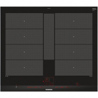 Cooktop SIEMENS Hob EX675LYC1E Induction, Number of burners/cooking zones 4, Black, Display, Timer Cooktop