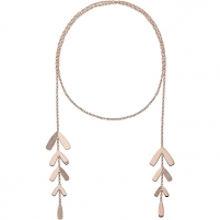 Kaklo papuošalas Emporio Armani Luxurious Variable Necklace Made of Pink Gold Plated Steel EGS2582221