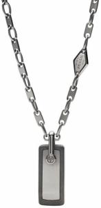 Kaklo papuošalas Fossil Men´s steel necklace JF02365793